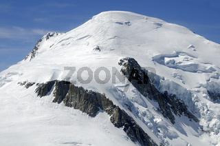 Gipfel des Mont Blanc bei Chamonix