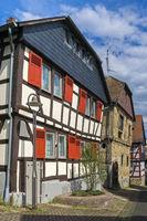 Restauriertes Fachwerkhaus in der Hessischen Stadt Hofheim