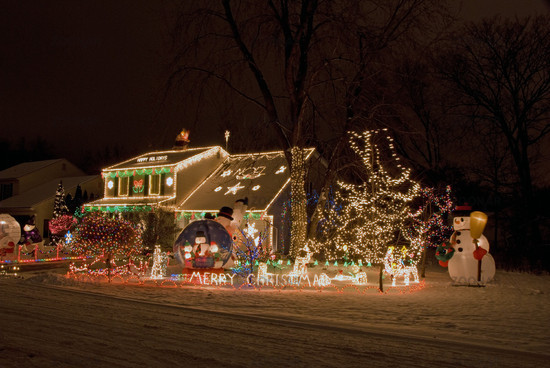 Amerikanische Weihnachtsbeleuchtung.Foto Weihnachtsbeleuchtung Christmas Lighting Bild 591907