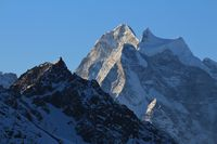 Mount Kangtega at sunrise. View from Gokyo, Nepal.
