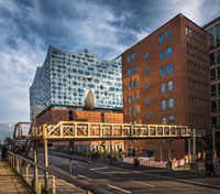 The Elbe Philharmonic Hall or Elbphilharmonie, concert hall in the Hafen City quarter of Hamburg, Germany