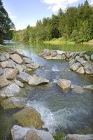 fish ladder at river Isar in Bavaria, Germany