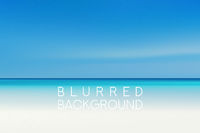 horizontal wide summer beach blurred background