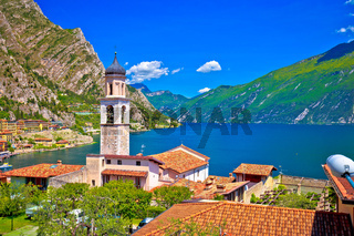 Limone sul Garda waterfront and lake view