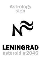 Astrology: asteroid LENINGRAD