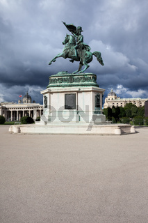 Archduke Charles monument on Heldenplatz in Vienna