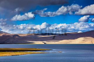 Himalayan mountain lake Tso Moriri, Ladakh