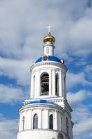 Belfry of Orthodox Holy Bogolyubovo Monastery in Suzdal Region, Russia