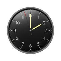 a clock shows 2 o'clock