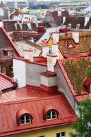 roofs of the old city, Tallinn, Estonia