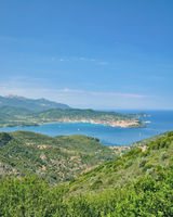 Blick auf Portoferraio,Hauptort der Insel Elba,Toskana,Mittelmeer,Italien