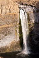 Palouse Falls Medium Flow Summertime State Park River Waterfall