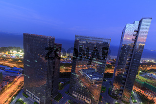 Xiamen Guanyinshan Business District Night Scene