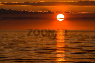 Ein Sonnenuntergang an der Küste der Ostsee