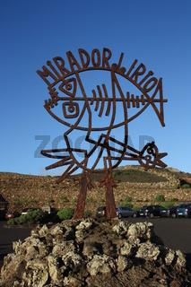 Lanzarote, Mirador del Rio, Schild