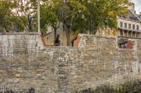 Fortress In The Lower Old Town, Quebec City, Canada