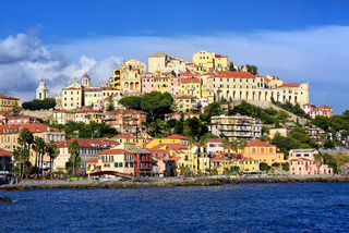 Porto Maurizio, the old town of Imperia, Italy