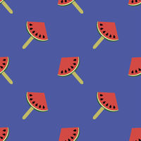 Fresh Slice of Watermelon Seamless Pattern