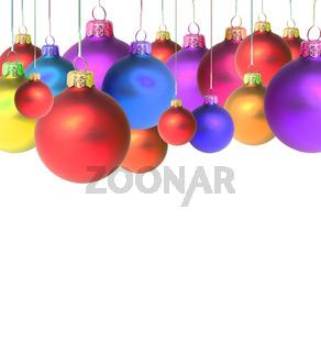 Round christmas toys