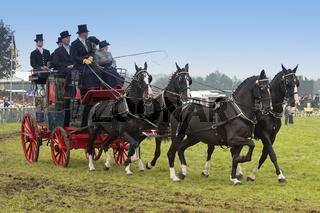 UK Berkshire Stagecoach and Passengers