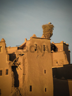 View to Ouarzazate old city aka kasbah and crane nest, Morocco