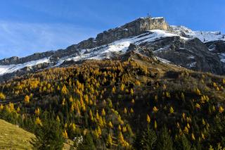 Diablerets Massiv im Herbst, Waadt, Schweiz