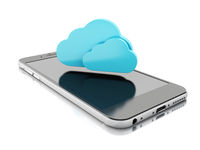 3d laptop and smartphone. Cloud computing concept