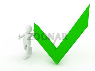 Check list Symbol over white