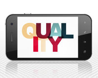 Marketing concept: Smartphone with Quality on  display
