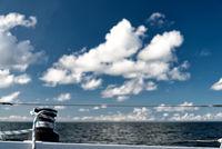 Winsch auf einer Segelyacht