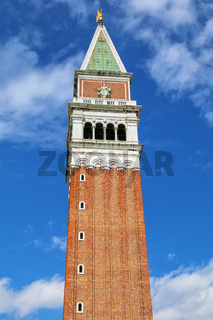 St Mark's Campanile at Piazza San Marco in Venice, Italy