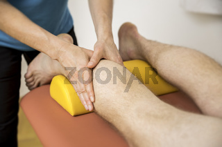 physiotherapy calf massage