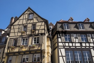 Colmar, historische Fachwerkhäuser am Place de Dominicains