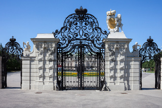 Gate of Belvedere in Vienna