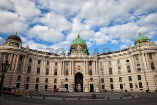 Hofburg Palace in capital city of Vienna in Austria