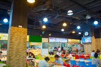 People at food hall. Singapore