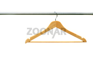 Coathanger on clothes a rail
