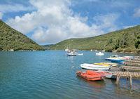 am Limski-Kanal oder auch Limfjord in Istrien nahe Rovinj,Adria,Kroatien