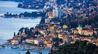 Opatija riviera bay bay and coastline panoramic view