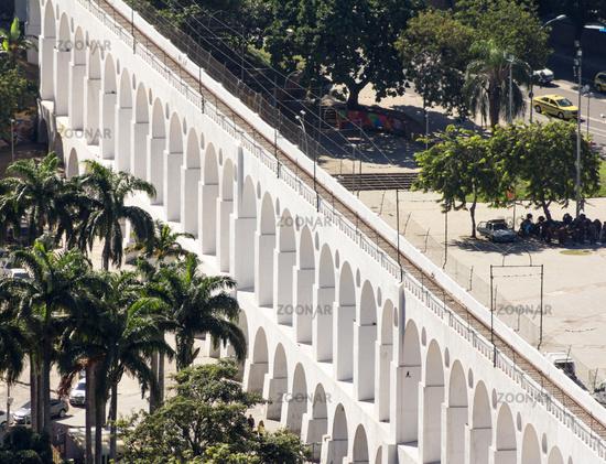 Carioca Aqueduct in Rio de Janeiro. Known as Lapa Arches