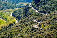 Road in mountains around the Montserrat Monastery