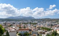 the crete town Rethymno, seen from the old castle