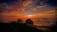 Sunset Over Trinidad, California