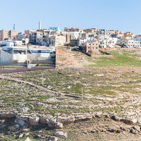 Al-Karak town on top of hill in Jordan