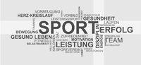 Wortwolke für Sport und Gesundheit