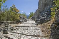 Aufstieg zum chateau de Tourbilion in Sitten
