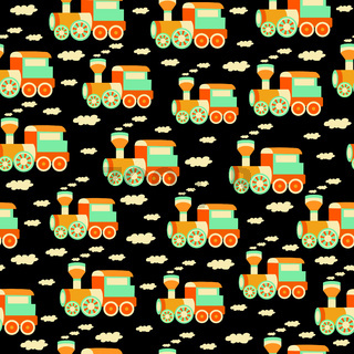 seamless pattern with train toys