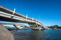 Wavy-gravy bridge located in La Barra, Maldonado, Uruguay