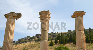 Ancient Ruins and Remains in Ephesus Turkey