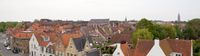 Panorama in the central part of Bruges.